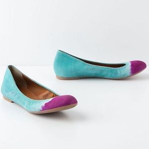 Anthropologie Leifnotes Hand painted Taika Flats